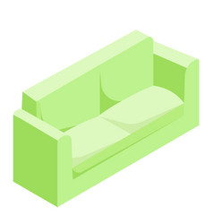 Green sofa isometric vector