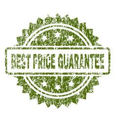 Grunge textured best price guarantee stamp seal vector