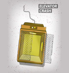 Hand drawn elevator crash vector