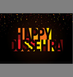 Happy dussehra greeting banner vijayadashami vector