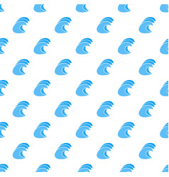 High ocean waves icon simple style vector