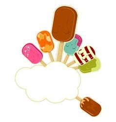 ice cream cartoon vector image