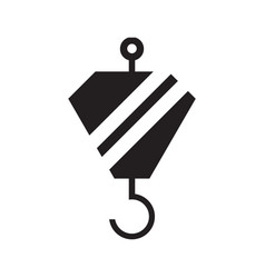 icon with crane hook vector image
