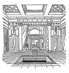 impluvium part of ancient roman architecture vector image