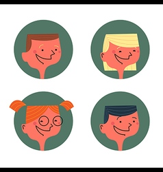 Kids avatars vector