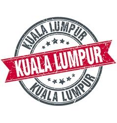 Kuala Lumpur red round grunge vintage ribbon stamp vector