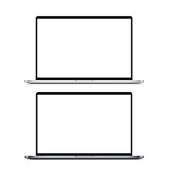 Laptop silver and dark-silver mockup vector