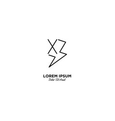 Letter x flash logo design vector