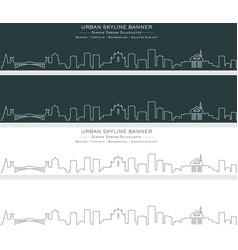 ljubljana single line skyline banner vector image
