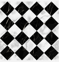 Marble luxury check diagonal seamless pattern vector