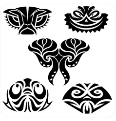 Masks in the North American style set vector