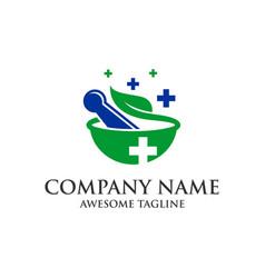 medicine pharmacy logo medical health symbol vector image