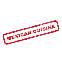 Mexican Cuisine Text Rubber Stamp vector