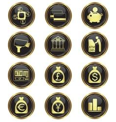 money business icon set vector image