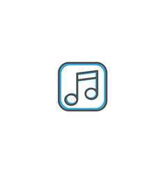 music player icon design essential icon vector image