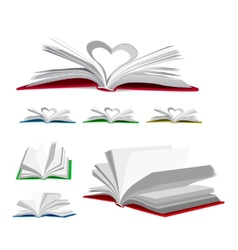 Open book set vector image