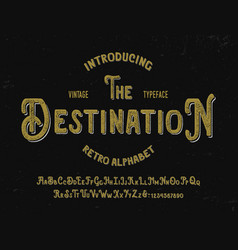 original textured font with shadow text effect vector image