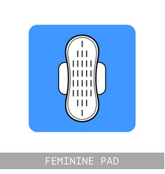 pad feminine hygiene monthly flat icon for vector image