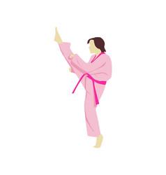 pink taekwondo vector image
