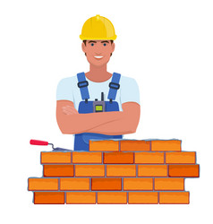 Professional builder with arms vector
