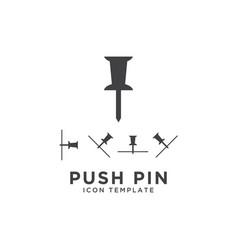push pin icon design template vector image