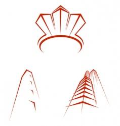 real estate symbols vector image vector image