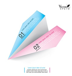 Rocket paper design template infographic Eps10 vector image