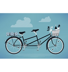 Romantic Tandem Bike vector