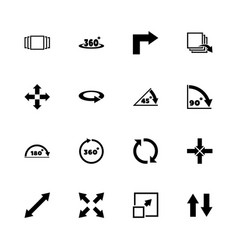 Rotate - flat icons vector