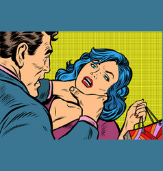 scandal and domestic violence a woman came vector image