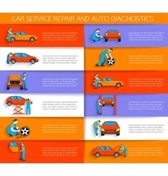 Set of auto mechanic car service repair vector