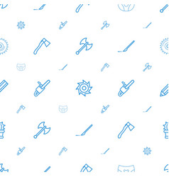Sharp icons pattern seamless white background vector