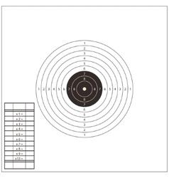 Shooting Range Target Template vector