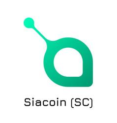 siacoin sc crypto coin ico vector image