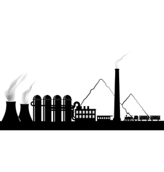 Silhouette of a power plant vector image