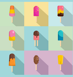 sweetie icons set flat style vector image