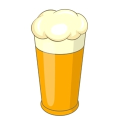 Swiss beer mug icon cartoon style vector image