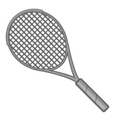 Tennis racket icon gray monochrome style vector image