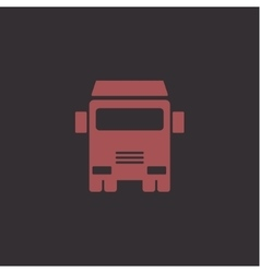 Truck sign for the trend of transport and vector image