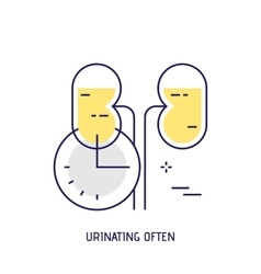 Urinating often Modern thin line icon vector