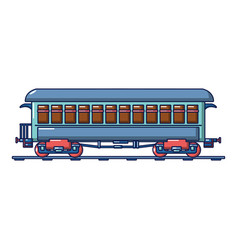 vintage passenger wagon icon cartoon style vector image