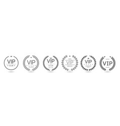 Vip members only vector