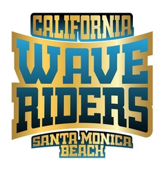 Wave riders typography vector