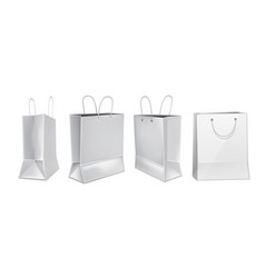 white shopping bag mockup set black friday vector image