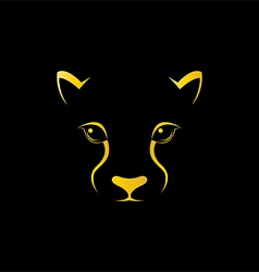 Cheetah head vector image