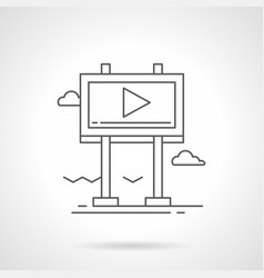 city video advertising flat line icon vector image vector image