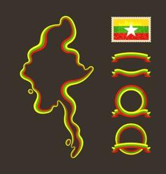 Colors of Myanmar Burma vector image vector image