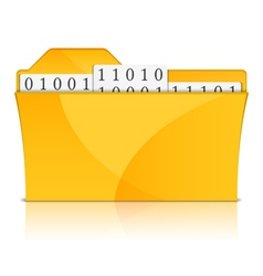 Folder with Files vector image