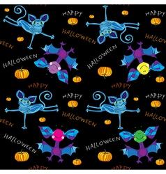 happy halloween kids pattern vector image vector image
