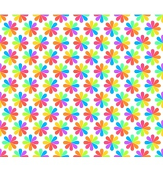 Rainbow floral geometric seamless pattern vector